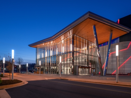 Landmark Charleston Coliseum and Convention Center lights a warm welcome