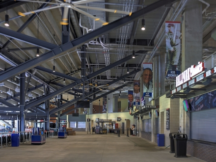 Uniform Light for New Baseball Stadium Concourse Provided by Luminis