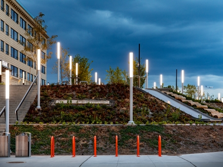 Innovative lighting design transforms reclaimed public space in downtown Newark